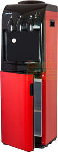 Кулер для воды Винил красный с холодильником