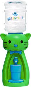 Детский кулер Аква Няня Кошка салатовая с синим