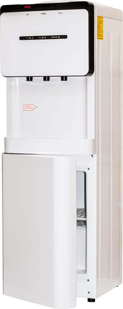 Кулер для воды Aqua Work V908 белый со шкафчиком, нагрев и компрессорное охлаждение