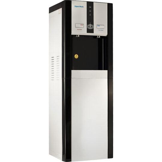 Кулер для воды Aqua Work 16-L/DN черный со шкафчиком, нагрев и компрессорное охлаждение