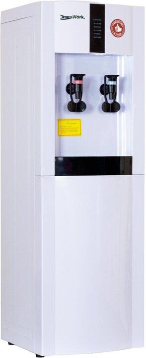 Кулер для воды Aqua Work 16-L/EN белый нагрев и компрессорное охлаждение