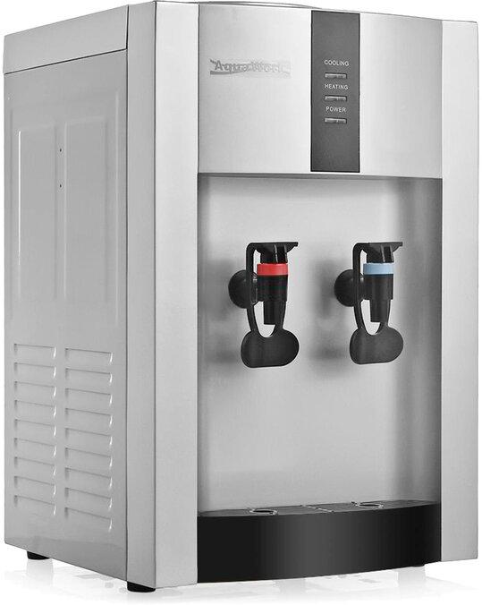 Кулер для воды Aqua Work 16-T/EN серебро нагрев и компрессорное охлаждение