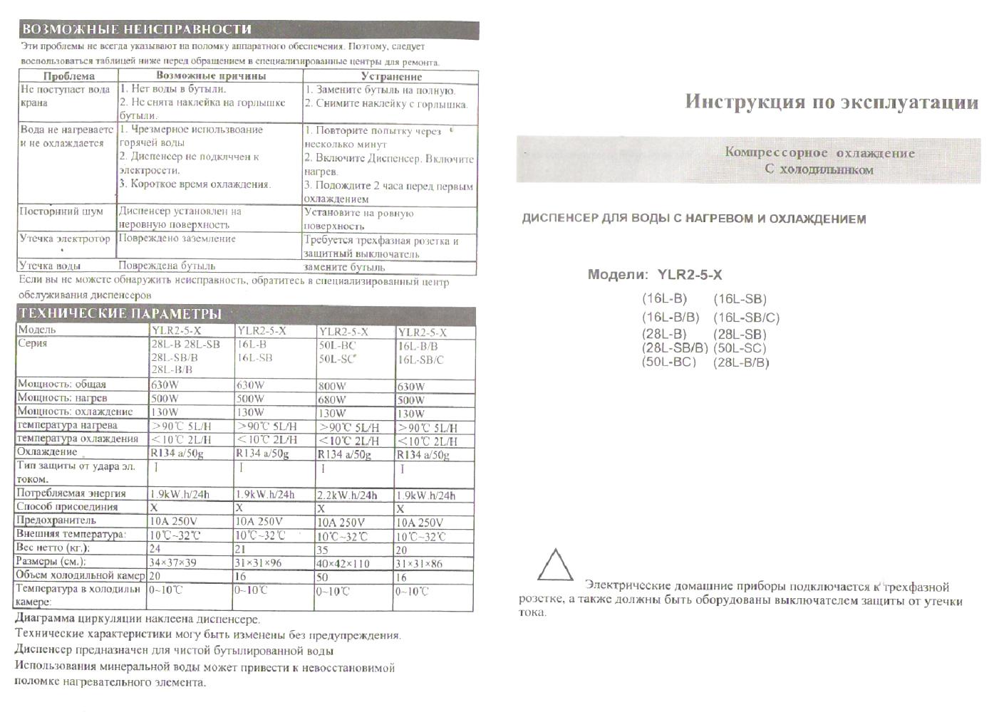 кулер Aqua Work 50-L-B/C паспорт
