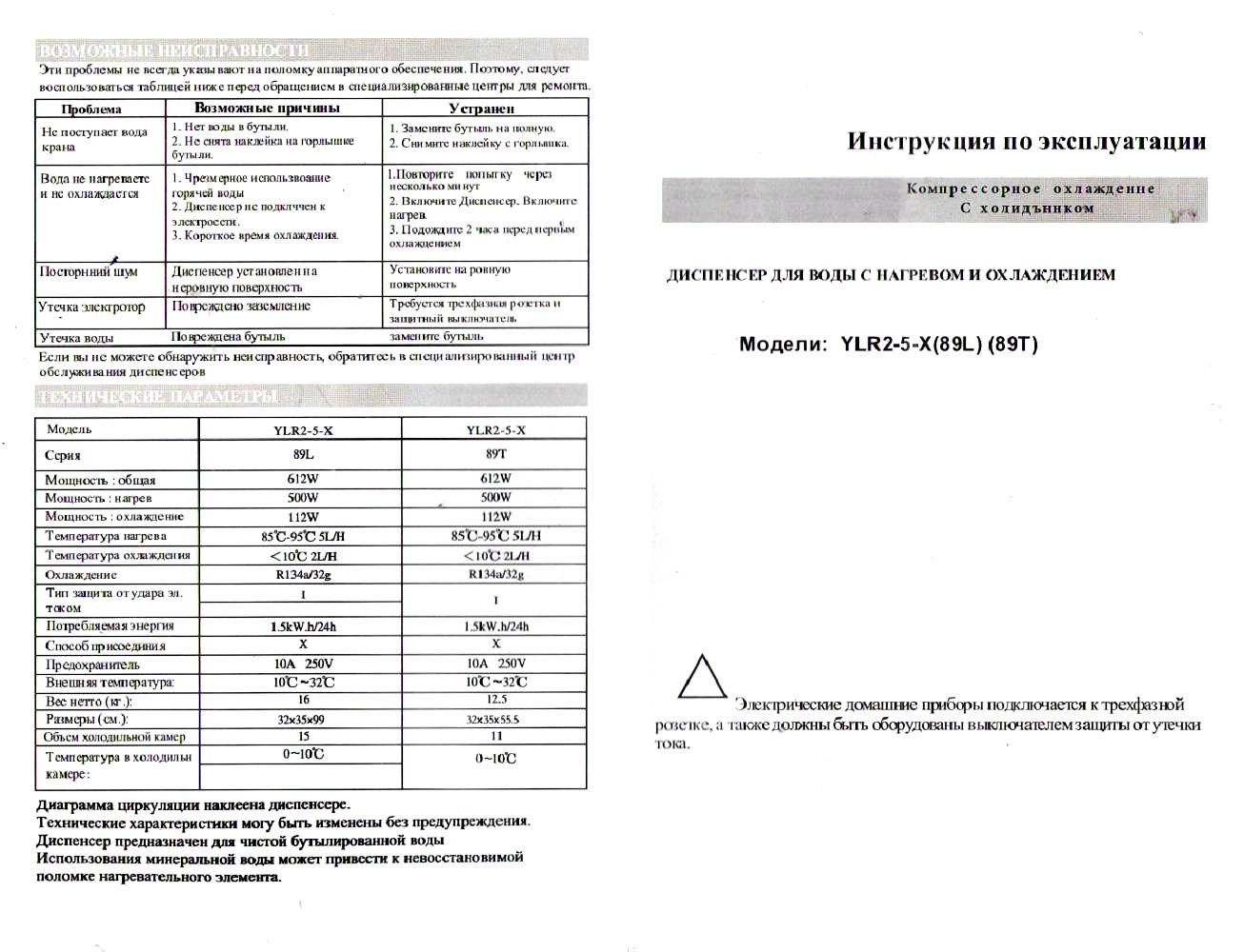 кулер Aqua Work 89-T паспорт