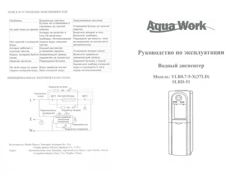 Кулер Aqua Work SLR паспорт